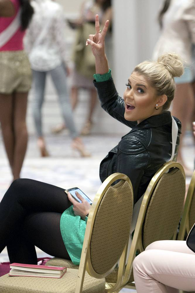 Bea Toivonen, Miss Finland during rehearsals for the 63rd Annual Miss Universe pageant in Doral-Miami, Florida, USA