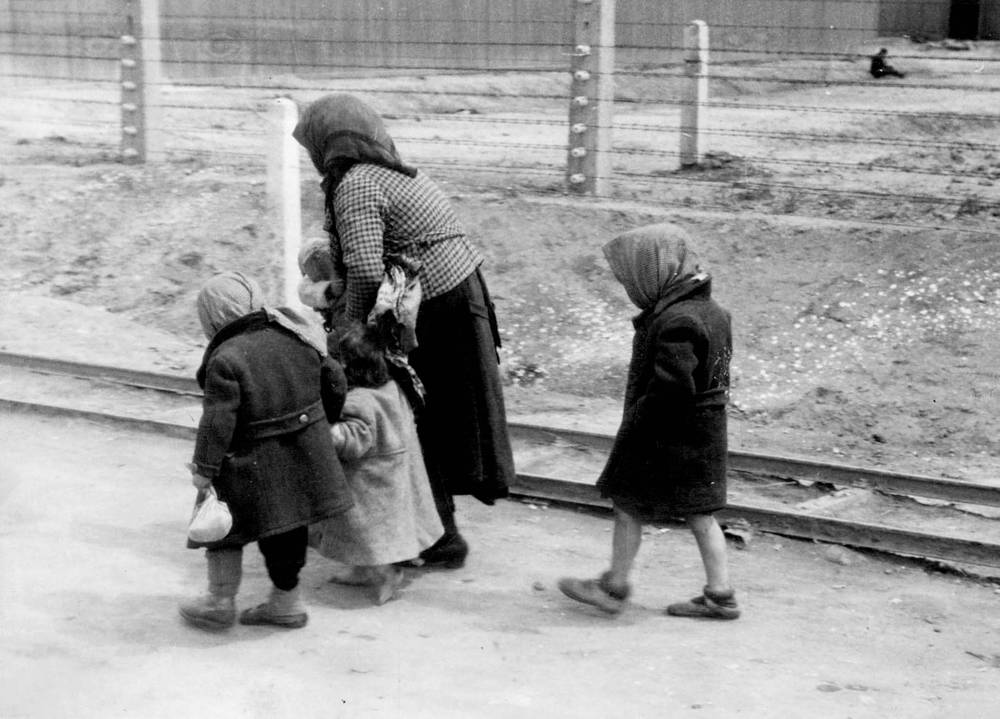 Jews from Czechoslovakia, at Auschwitz-Birkenau, 1944