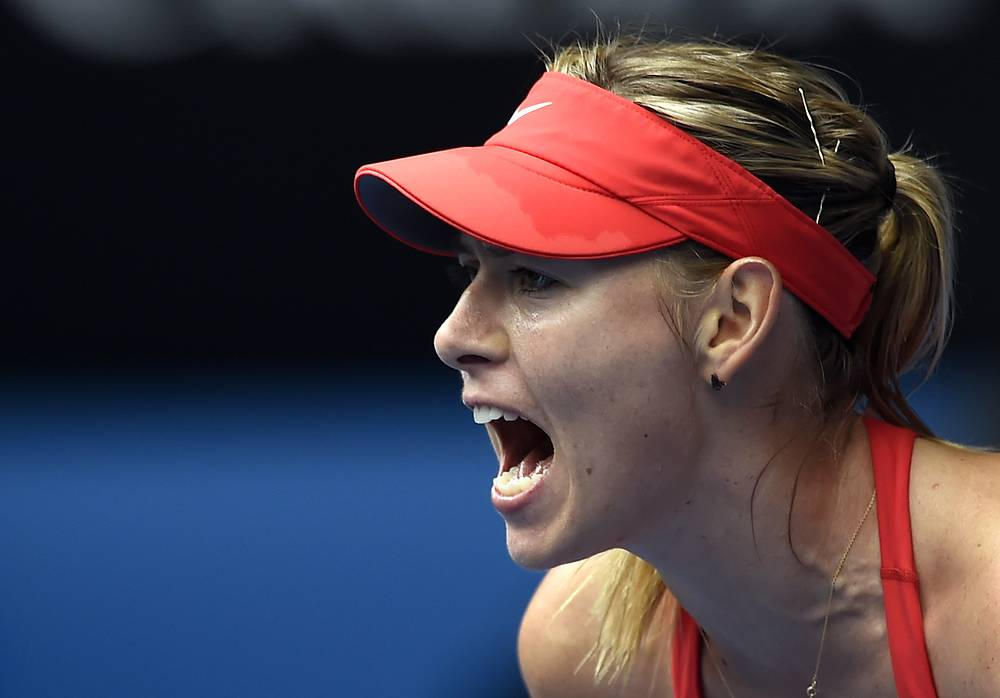 Sharapova moved to the semifinals of first Grand Slam tournament of 2015 after her win over Canada's Eugenie Bouchard