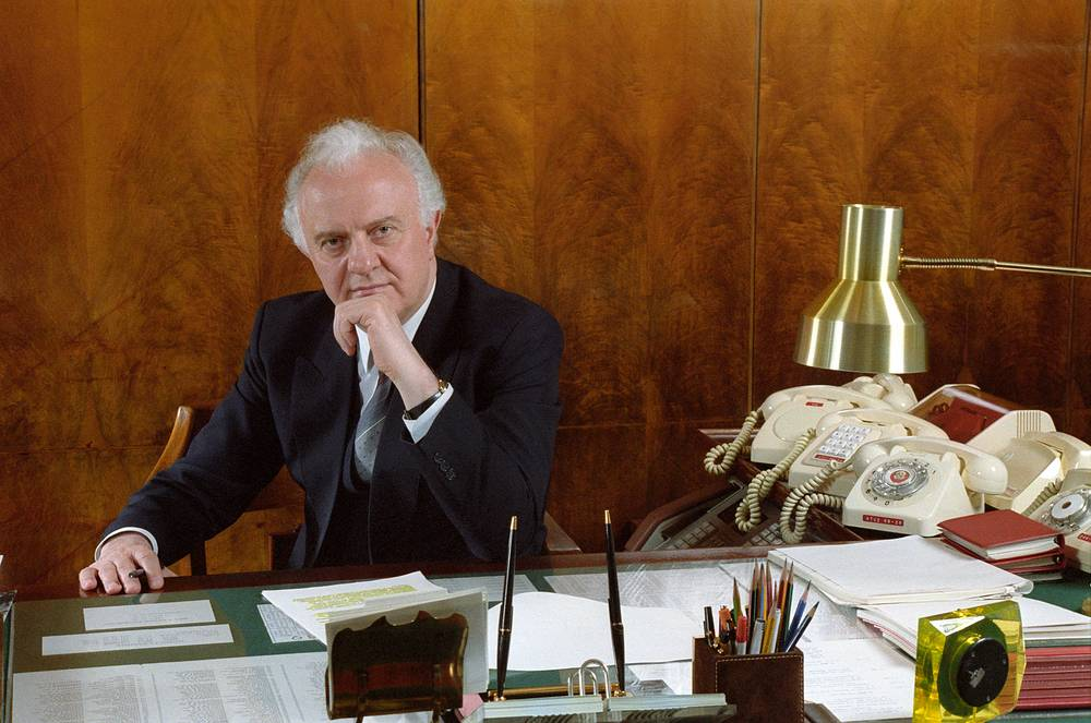 Eduard Shevardnadze was foreign minister under Soviet leader Mikhail Gorbachev in 1985 -1990. In November 1991 Shevardnadze returned briefly as Soviet Foreign Minister but resigned when the Soviet Union was formally dissolved