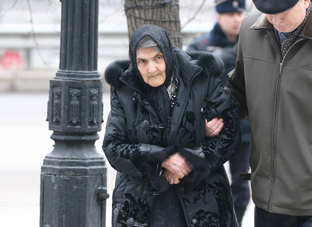 Boris Nemtsov's mother Dina Eidman