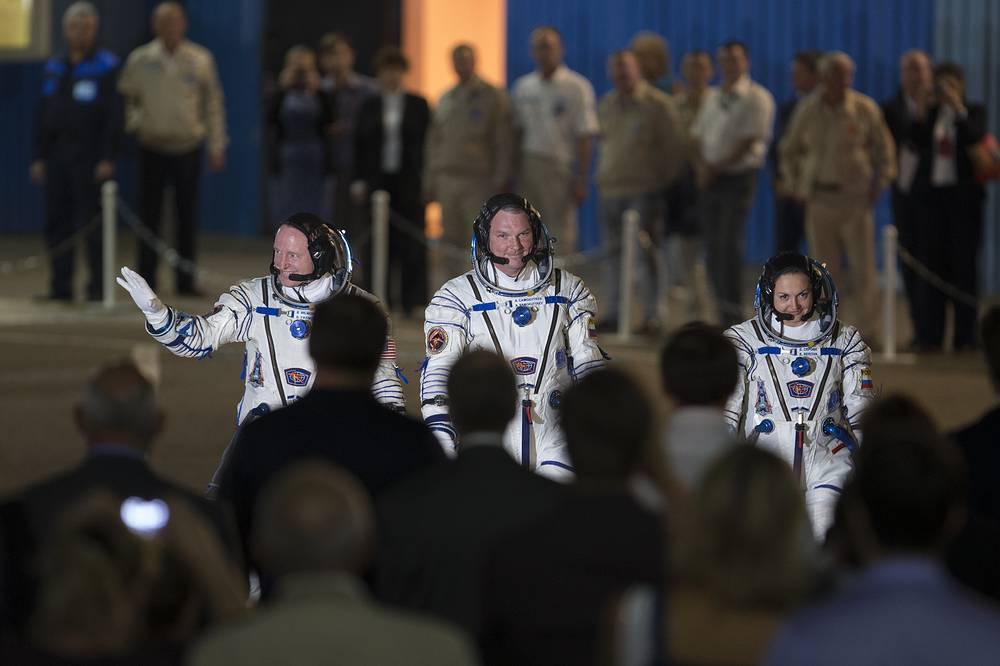 Serova graduated from the Aerospace Faculty of the Moscow Aviation Institute qualified as an engineer. Photo: US astronaut Barry Wilmore, Russian cosmonauts Alexander Samokutyaev and Yelena Serova, crew members of the mission to the International Space Station at Baikonur cosmodrome, Kazakhstan