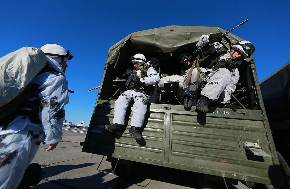 Russian airborne forces arrived at the airfield