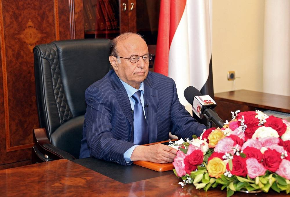 Currently, Mansur Hadi remains in the seaport city Aden, in southern Yemen. He continues de facto accomplishing the duties of the president and is recognized as the president at the international level. On March 19, Aden saw fierce clashes between the security forces and the rebels. Photo: Yemeni president Abd Rabbo Mansour Hadi