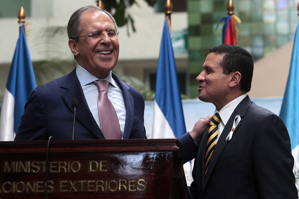 Special focus was made on expansion of trade. Last year, bilateral trade amounted to 73.5 million US dollars. Photo: Russian Foreign Minister Sergey Lavrov and his Guatemalan counterpart Carlos Morales agreed to reinforce bilateral links in politics, economy and cooperation fields
