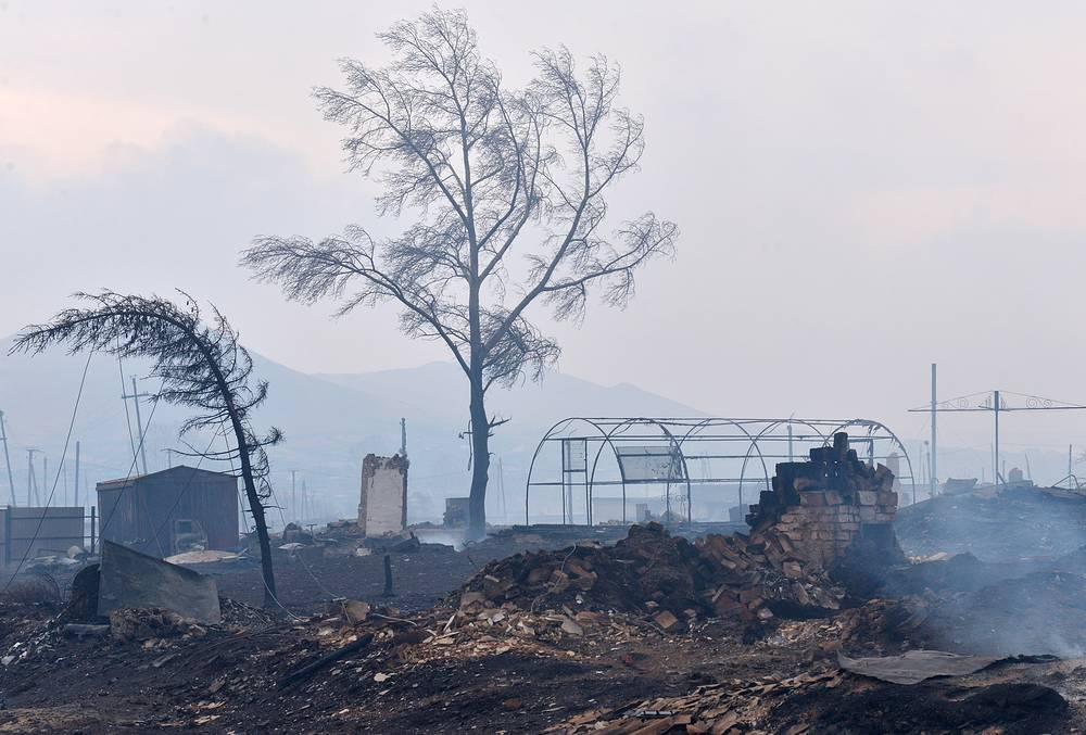 The fire broke out as a result of unauthorized dry grass burning after the winter season, according to the local law-enforcement agencies