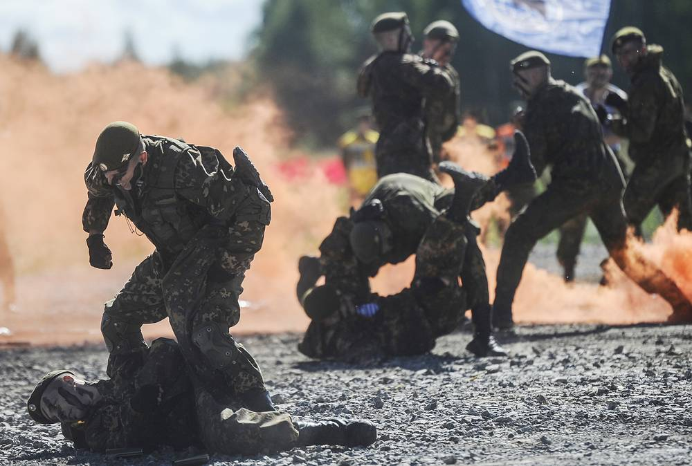 3rd stage of the Masters of Reconnaissance competition at Koltsovo firing range, Novosibirsk region
