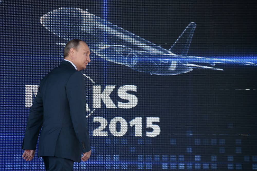 """Russian President Vladimir Putin spoke at the opening of the MAKS-2015. The Russian leader said a range of """"serious deals"""" to be signed during this year's MAKS event"""