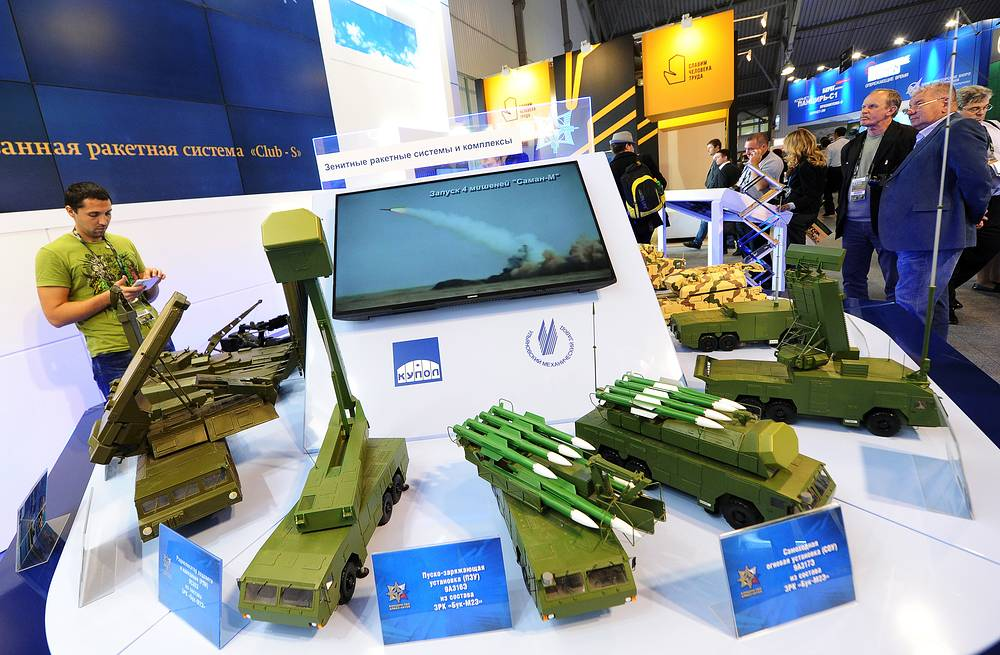 Almaz-Antey stand at the arms show