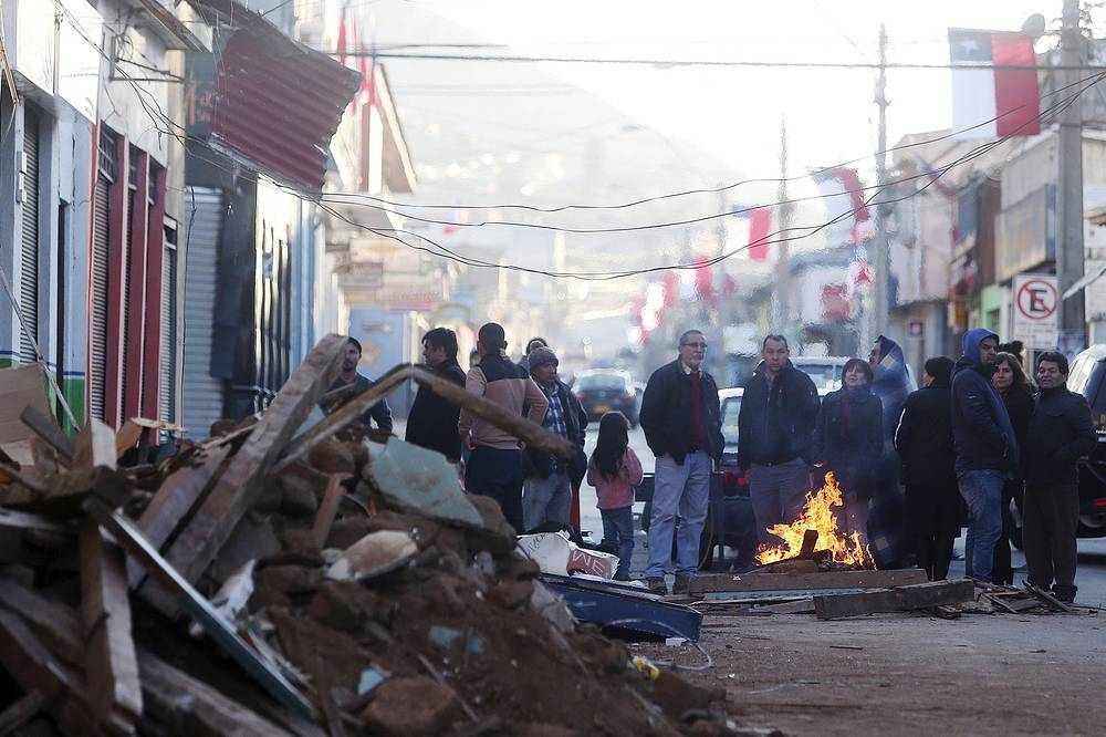 According to Chilean Ministry of the Interior, one million people were evacuated from their homes, particularly around the country's coastal areas for fear of a tsunami, following the massive earthquake