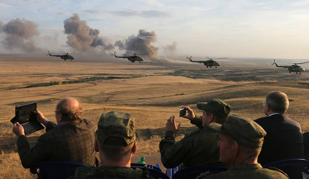 Center- 2015 strategic drills, this year's largest, took place in Russia on September 14-20
