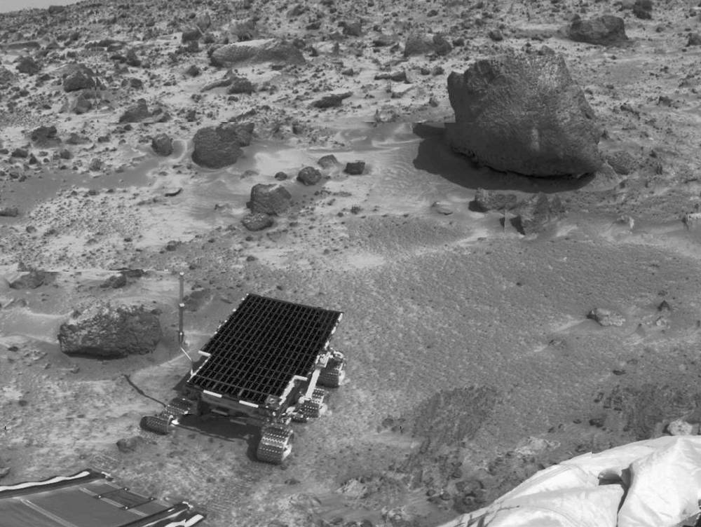 Sojourner, the Mars Pathfinder robotic rover landed on July 4, 1997 and explored Mars for around three months