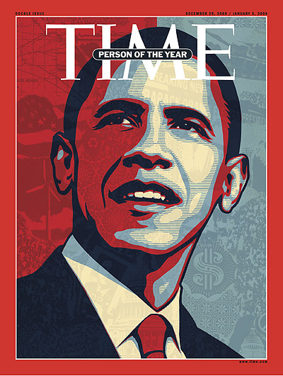Time's 2008 Person of the Year was named Barack Obama. In 2008, Obama was elected President of the United States, becoming the first African-American US President