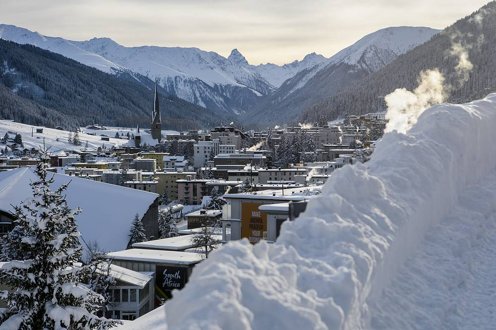 General view of Davos before the opening of the 46th Annual Meeting of the World Economic Forum