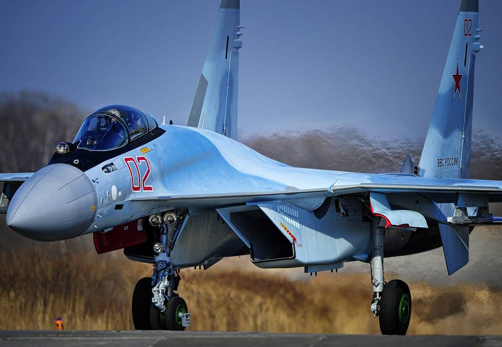 Russia's Sukhoi Su-35S fighters have been redeployed to Syria to provide additional air support to the air grouping fighting against the Islamic State. Photo: Sukhoi Su-35S fighter (archive)