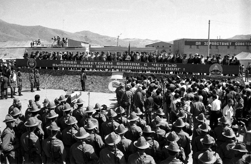 The first phase of the withdrawal of Soviet troops from Afghanistan, 1988