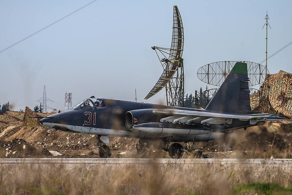 Russia's Su-25 armored jet aircraft