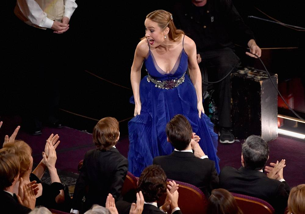 Brie Larson wins the Best Actress award for 'Room'