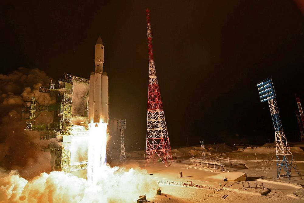 The first launch of Angara-A5 at Plesetsk cosmodrome, 2014