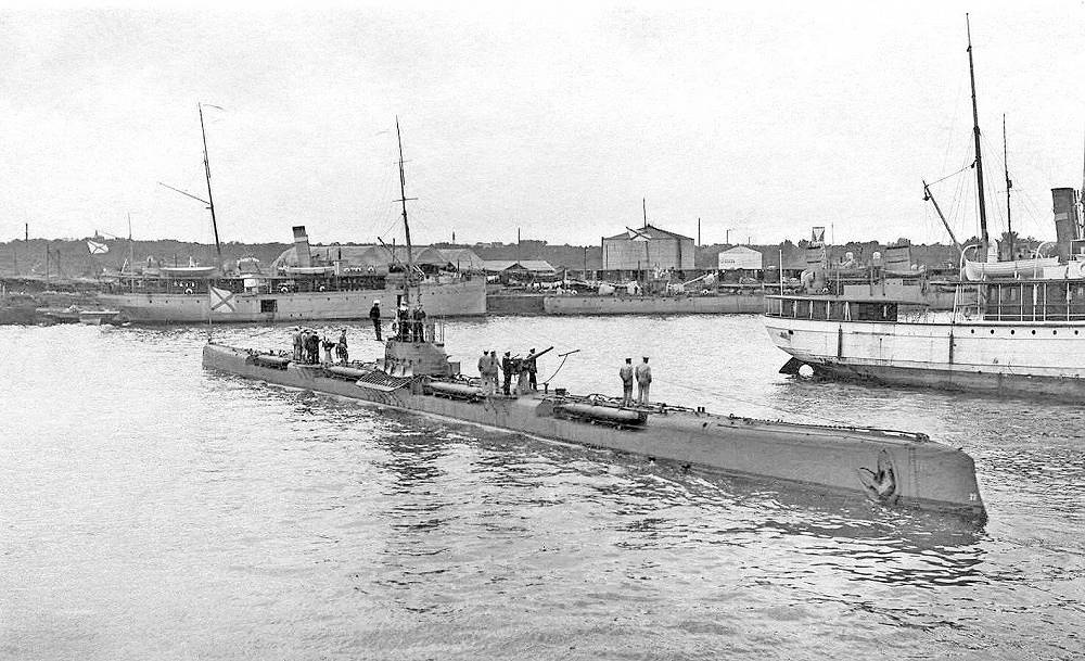 """Tigr (Russian: """"Tiger"""")  submarine of Bars-class. A total of 24 Bars-class boats were built between 1914 and 1917"""