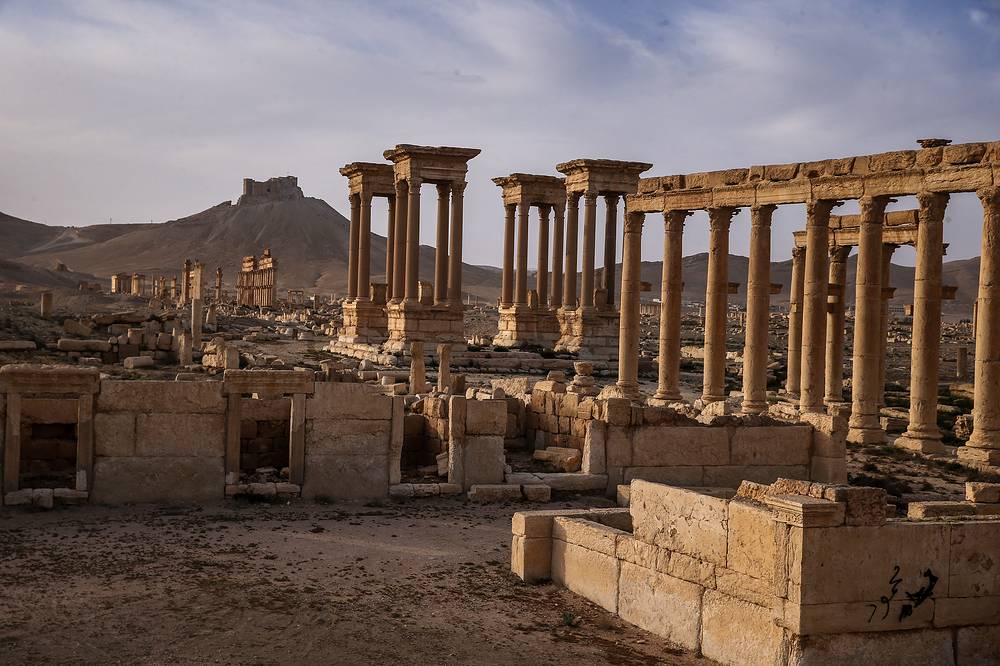 A view of the historic part of Palmyra