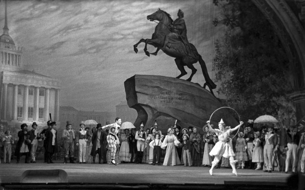 Ballet Petrushka by Igor Stravinsky staged at the Bolshoi Theater, 1948