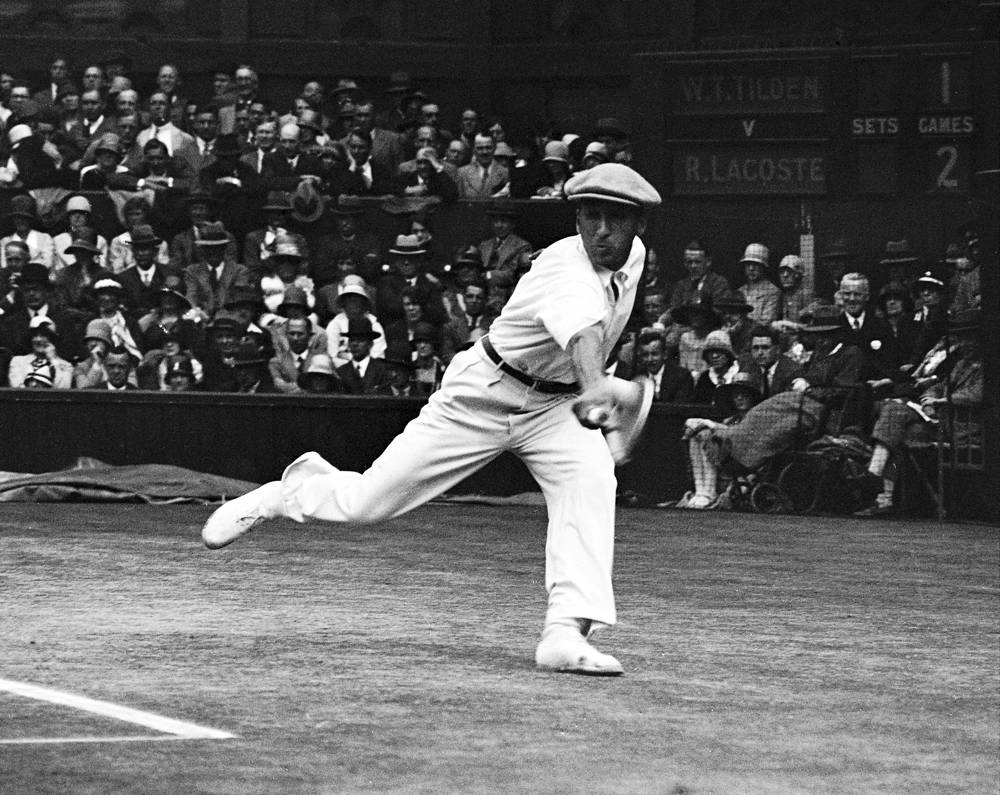 "French tennis champion Rene Lacoste, nicknamed ""the Crocodile"" by fans because of his tenacity on the court, won two Wimbledons in 1920s. He is also known worldwide as the creator of the Lacoste tennis shirt, which he introduced in 1929"