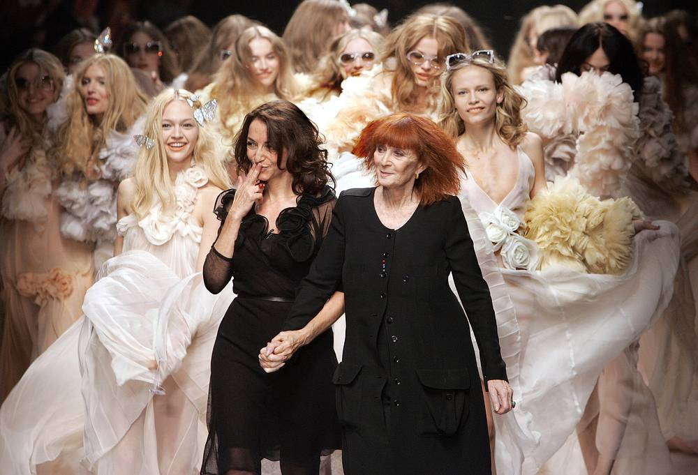 Sonia Rykiel and her daughter Nathalie Rykiel, artistic director for the fashion house Rykiel, 2007