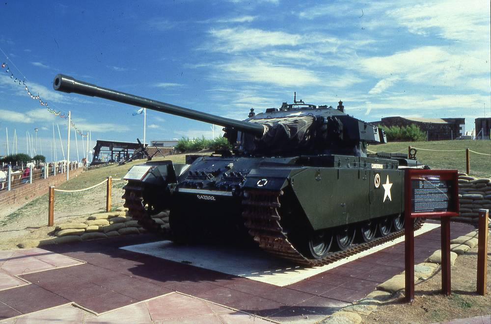 Centurion became the primary British main battle tank of the post-Second World War period. It remained in production until the 1960s and was used in the Korean War in 1950, in the Indo-Pakistani War of 1965, in Gaza, the West Bank and on the Lebanese border