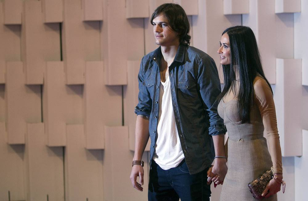Ashton Kutcher and Demi Moore married in 2005 but divorced in November 2011