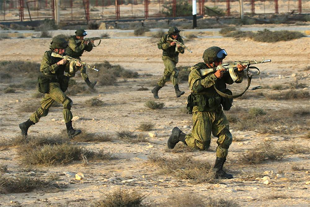 Russia-Egypt anti-terrorist  exercises near the Egyptian town of El Alamein