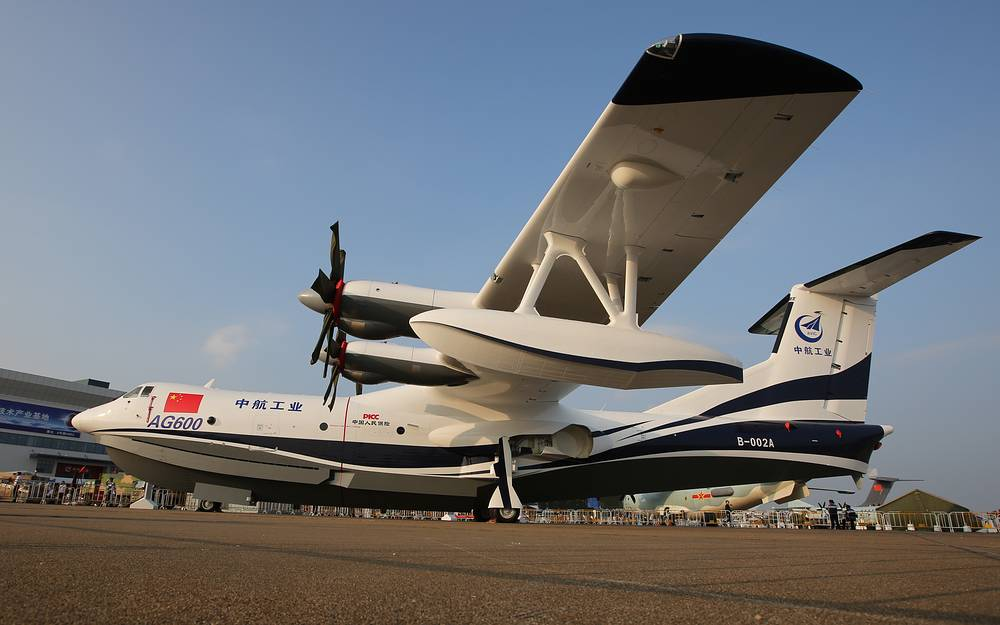 AG-600 1 amphibious flying boat by the Aviation Industry Corporation of China