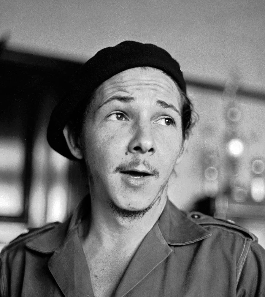 The younger brother of Cuba's revolutionary leader Fidel Castro, Raul Castro, 1959