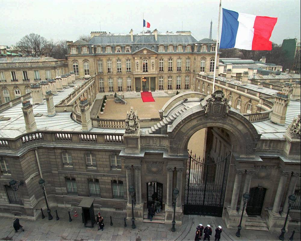 General view of the Elysee palace, the official residence of the President of France since 1848