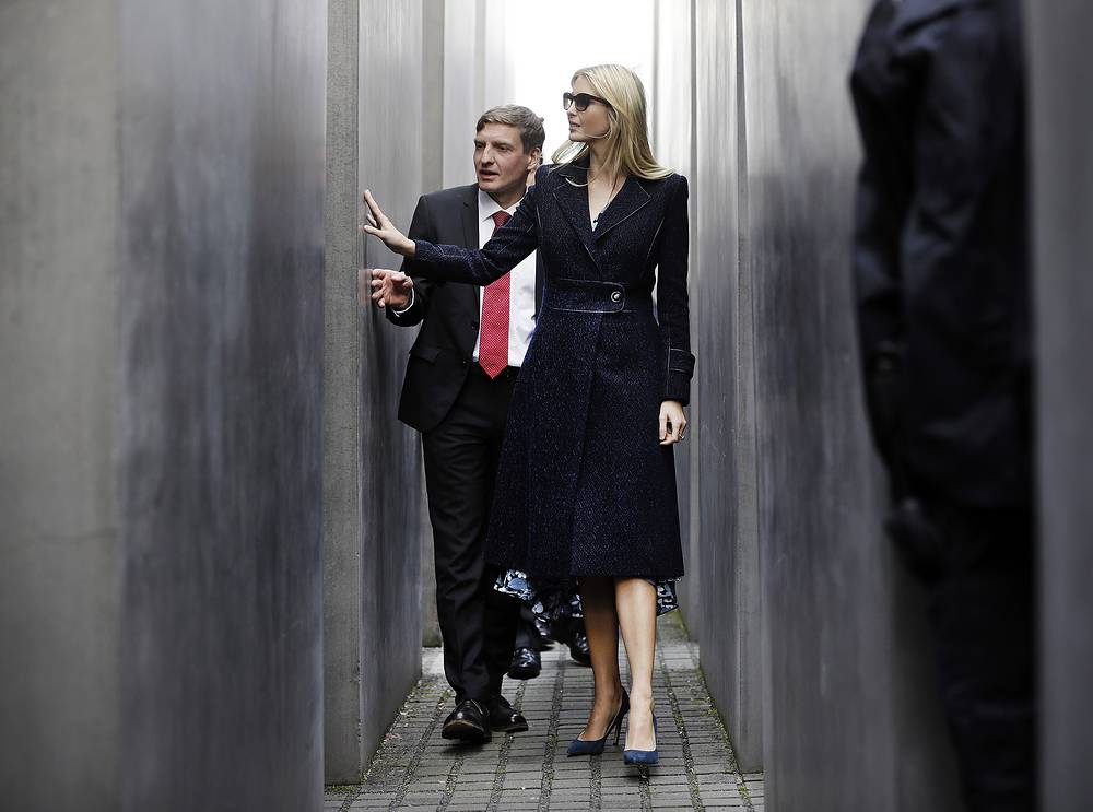 Ivanka Trump also visited the Holocaust Memorial in Berlin