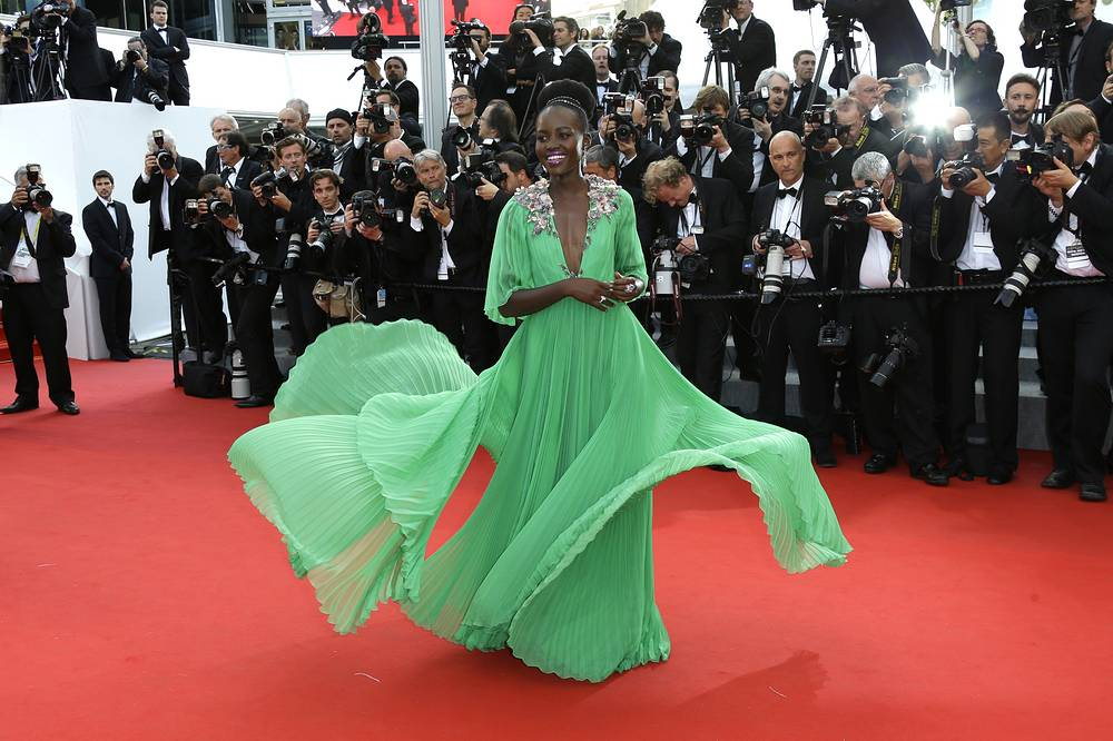 Lupita Nyong'o at the 68th international film festival, Cannes, 2015