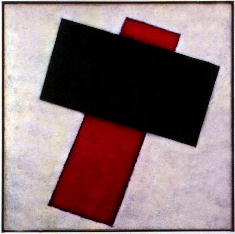 """Suprematist Composition"" by Russian painter Kazimir Malevich (1919-1920) was sold for $17 million in 2000"