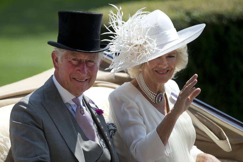 Britain's Prince Charle and his wife Camilla Duchess of Cornwall
