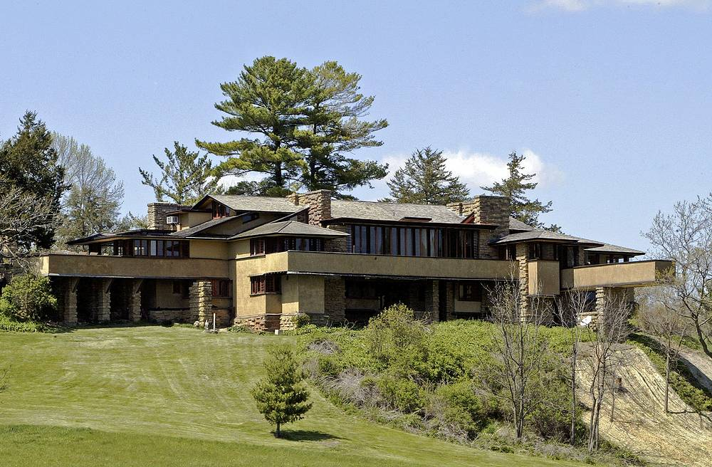 Taliesin, Frank Lloyd Wright's 600-acre Wisconsin home. Taliesin remains as some of the most innovative American architecture ever and are a living example of his work and philosophies