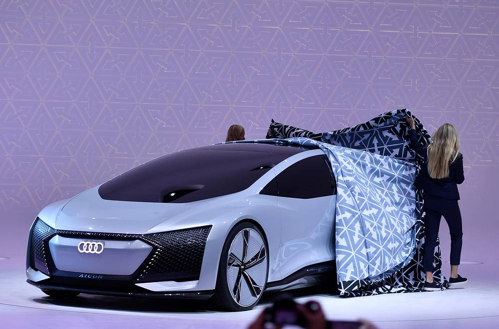 An Audi Aicon concept car