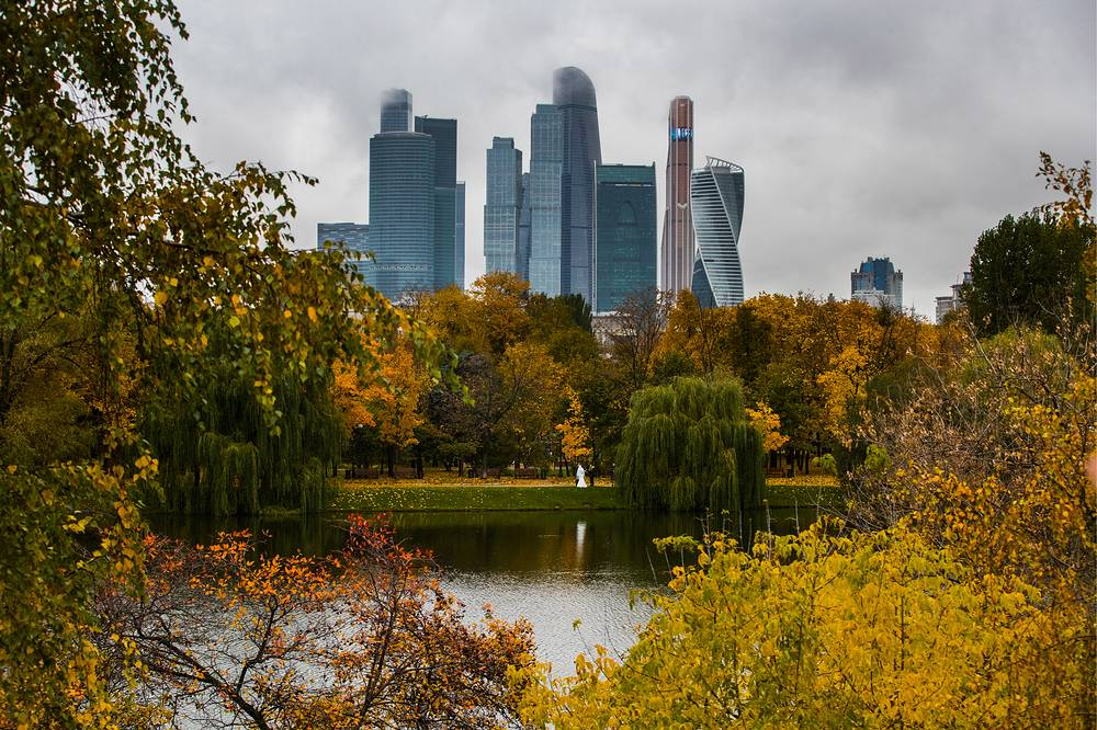 View of the Moscow City skyscrapers