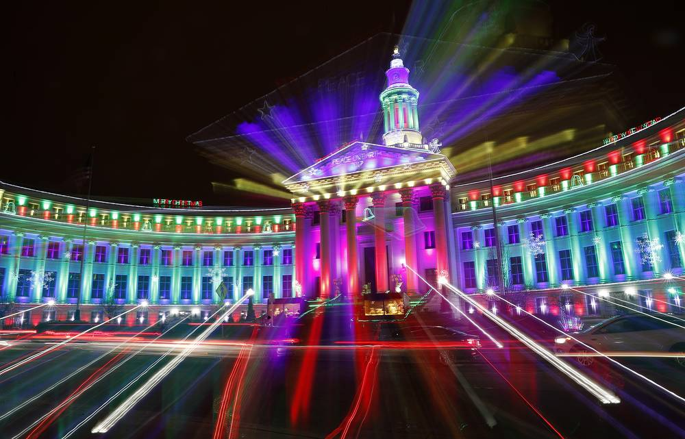 Illumination in the Denver City, USA