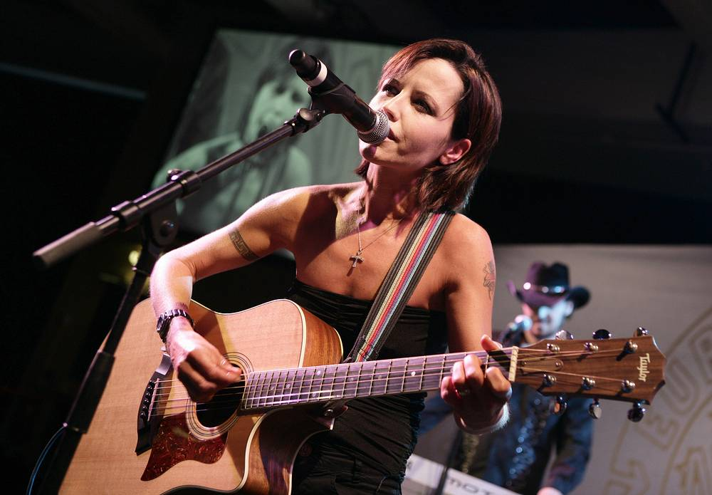 Dolores O'Riordan performs at the European Border Breakers awards in Cannes, France, 2008