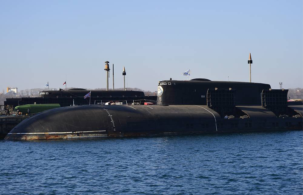 Project 949A Antey-class submarines armed with Granit cruise missiles