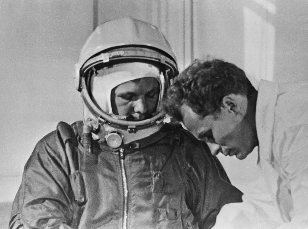 The Vostok spacecraft with Gagarin aboard blasted off from the Baikonur space site at 09:07 Moscow time on April 12, 1961. The flight lasted one hundred and eight minutes
