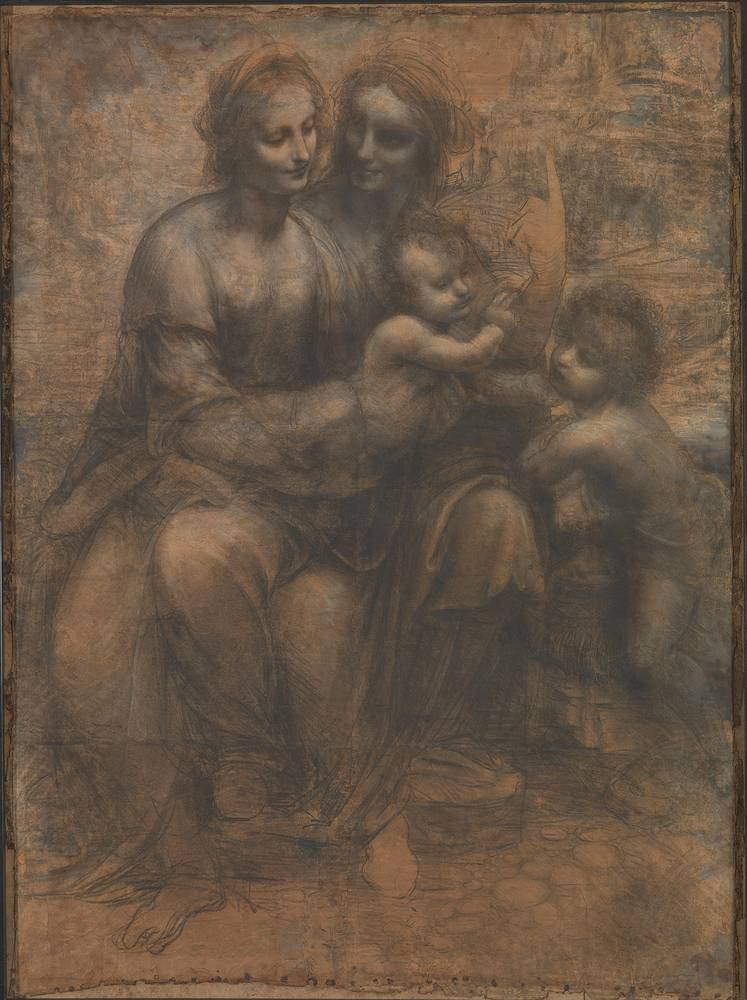 "The Virgin and Child with St Anne and St John the Baptist, a black and white charcoal and chalk drawing by da Vinci, was attacked in 1987, when a man attempted to shoot it with a sawn-off shotgun intending to show his anger at the ""political, social and economic conditions in Britain"""