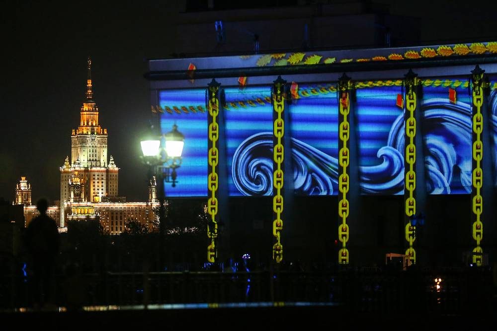 """The first part of the show was called """"Moscow - the heart of Russia"""", presenting the way Russian lands unified around Moscow"""