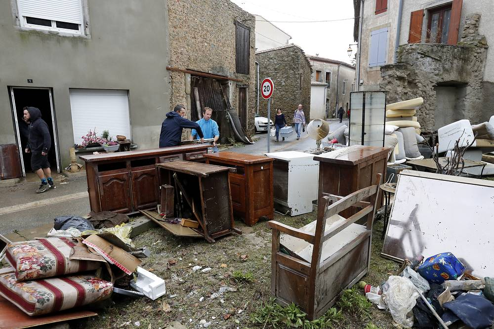 Flash floods tore through towns in southwest France, turning streams into raging torrents