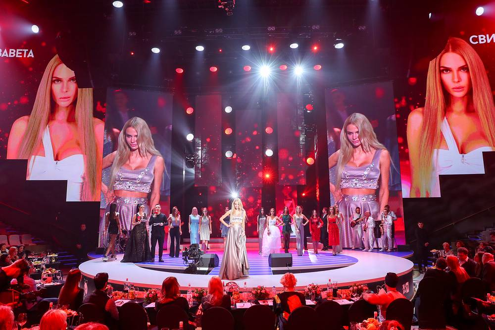 Contestants of Miss Moscow 2018 are seen on stage at Vegas City Hall in Moscow