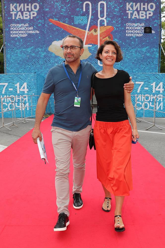 Andrei Zvyagintsev with his wife Anna at the 2017 Kinotavr Film Festival in Sochi